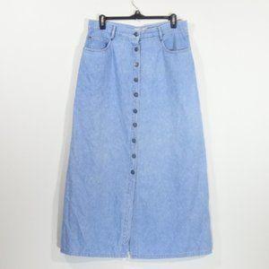 Sigrid Olsen Sport vintage denim button up skirt